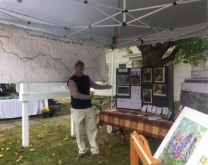 Concord-Lake Sunapee Rail Trail booth at the 2016 Warner Fall Foliage Festival.